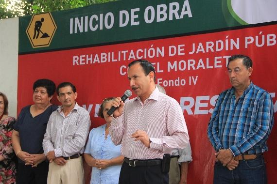 Alcalde de Colima Inicia Rehabilitación de Jardín del Moralete y Entrega Obra en el de Las Palmas