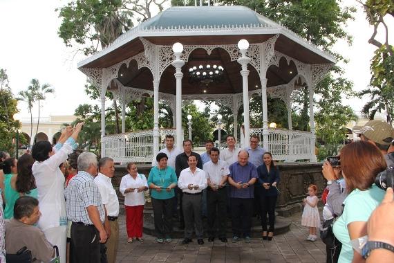 Federico Rangel Lozano Entregó la Rehabilitación del Kiosco del Jardín Libertad