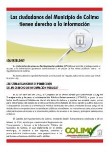 Banner Derecho a la información -