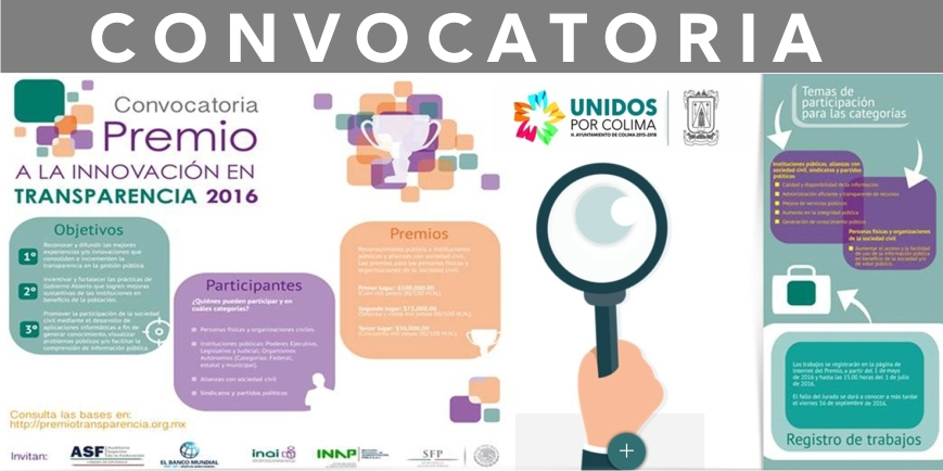 CONVOCATORIA TRANSPARENCIA.